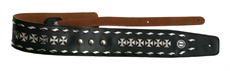 Rock Demon Straps Leather Iron Cross